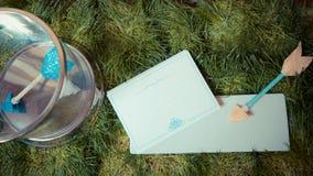 Décorations de mariage Flèches de l'amour Photographie stock
