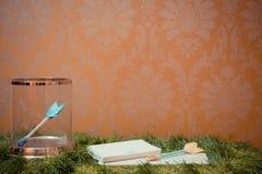 Décorations de mariage Flèches de l'amour Images stock