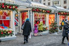 Décorations de Noël à Moscou photos stock