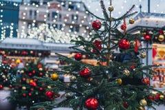 Décorations de Noël à Moscou photo libre de droits