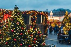 Décorations de Noël à Moscou images libres de droits