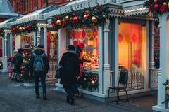 Décorations de Noël à Moscou photographie stock