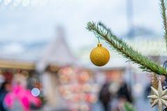 Décorations de Noël à Moscou en décembre photo libre de droits