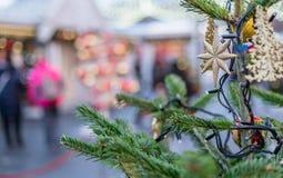 Décorations de Noël à Moscou en décembre photographie stock