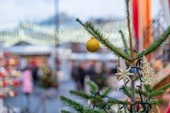 Décorations de Noël à Moscou en décembre photo stock