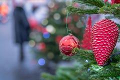 Décorations de Noël à Moscou en décembre image libre de droits