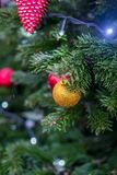 Décorations de Noël à Moscou en décembre photos libres de droits