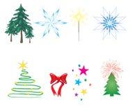 Décorations de Noël illustration de vecteur