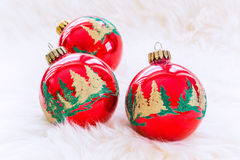 Décorations de Noël Photographie stock libre de droits