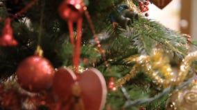 Décorations de Noël banque de vidéos