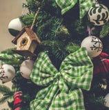 décorations de Noël-arbre Photo libre de droits