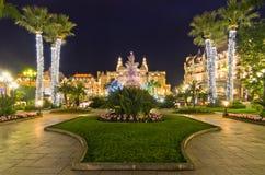 Décorations de Noël au Monaco, Monte Carlo, France image libre de droits