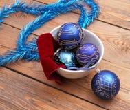 Décorations de Noël avec des boules Photo stock