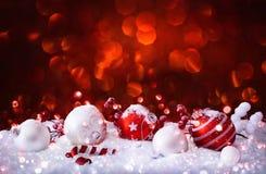 Décorations de Noël avec des boules Image stock