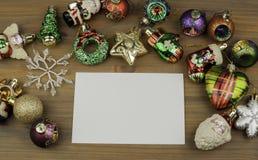 Décorations de Noël avec l'espace libre pour le texte Photo stock