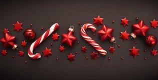 Décorations de Noël avec la sucrerie Photos libres de droits