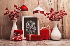 Décorations de Noël avec le cadre Photographie stock