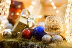 Décorations de Noël, cadeau photo stock
