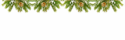 Décorations de Noël d'isolement sur le fond blanc image libre de droits