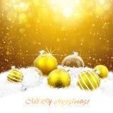 Décorations de Noël dans la neige Photographie stock libre de droits