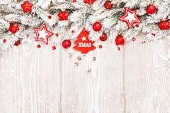 Décorations de Noël dans la neige Images libres de droits