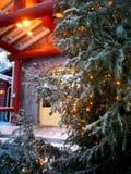 Décorations de Noël en Finlande images stock