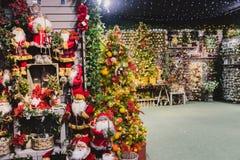 Décorations de Noël en vente Photo stock
