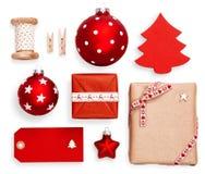 décorations de Noël réglées Photographie stock libre de droits