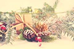 Décorations de Noël de style de vintage Photos libres de droits