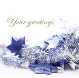 Décorations de Noël sur le fond blanc Images libres de droits
