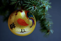Décorations de Noël sur un fond en bois Images stock