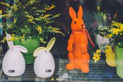 Décorations de Pâques à Potsdam Photos libres de droits