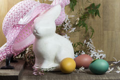 Décorations de Pâques pour le décor à la maison pour les vacances de ressort Photographie stock