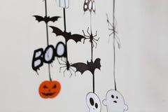 Décorations de papier de partie de Halloween Photographie stock libre de droits