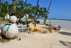 Décorations de plage de Noël Photographie stock