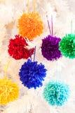 Décorations de pompon Photo libre de droits