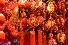 Décorations de rouge de chinois traditionnel Images libres de droits