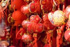 Décorations de rouge de chinois traditionnel Image stock
