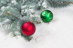 Décorations de saison de Noël Photographie stock