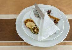 décorations de table Photographie stock libre de droits