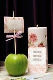 Décorations de table de mariage Photographie stock libre de droits
