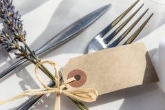 Décorations de Tableau de lieu de rendez-vous, d'événement ou de mariage Images stock