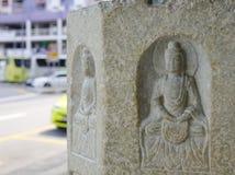 Décorations de temple bouddhiste à Singapour Photo libre de droits