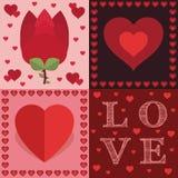 Décorations de Valentine Images libres de droits
