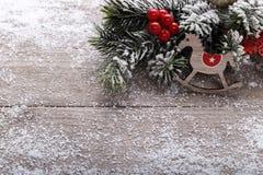 Décorations de vintage de Noël images libres de droits