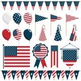 Décorations des Etats-Unis Photos stock