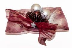 Décorations disposées de Noël Photos stock