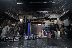 Décorations emballées sur l'étape dans le théâtre de Vakhtangov Images libres de droits