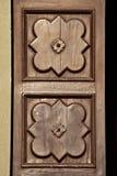 Décorations en bois antiques de porte Images libres de droits