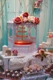 Décorations et bonbons de mariage Images libres de droits
